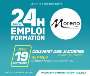 Salon 24h Emploi Formation RENNES @ Couvent des Jacobins (Centre des congrès)