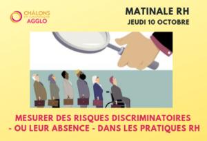 Matinale RH: Mesurer des risques discriminatoires - ou leur absence - dans les pratiques RH @ Groupe JVS
